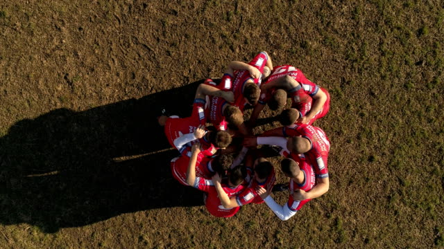 vídeos de stock e filmes b-roll de rugby team playing on the field - râguebi desporto