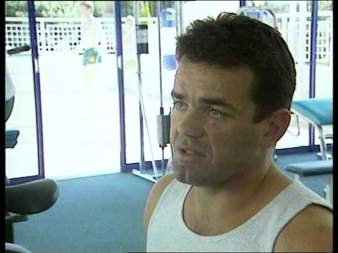 jonah lomu profile:; south africa: int rob andrew swimming in pool r-l cms will carling intvwd sot - lomu is balanced and powerful cms jonah lomu... - south africa stock videos & royalty-free footage