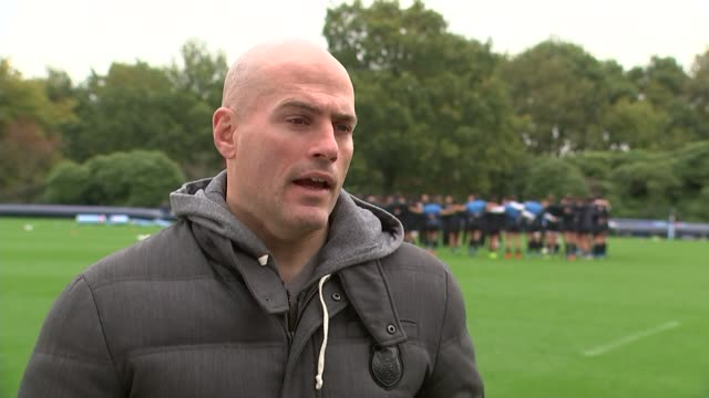 rugby world cup 2015: argentina prepare for semi-final match v australia; england: surrey: pennyhill park: felipe contepomi interview sot - talks of... - australian national team stock videos & royalty-free footage