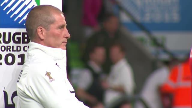 Rugby World Cup 2015 England reflect on losing match to Wales / Australians relaxing prior to their match Twickenham Stuart Lancaster sitting on...