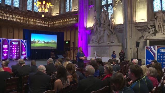 Rugby World Cup 2015 Wales Welcome Ceremony ENGLAND London Guildhall INT **Music playing** General views of audience / Prince William Duke of...