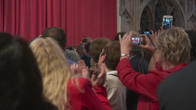 Rugby World Cup 2015 Wales Welcome Ceremony Wales team along / audience applauding