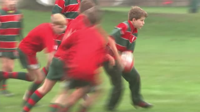 hertfordshire comprehensive school that produced four england rugby stars; england: hertfordshire: harpenden: st george's school: ext various of... - schoolboy stock videos & royalty-free footage