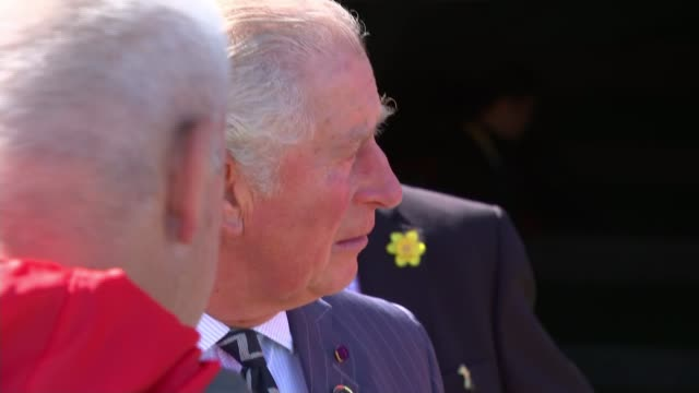prince charles visits wales team in tokyo ahead of semi-final against south africa; japan: tokyo: prince charles visits wales rugby team in tokyo... - semifinal round stock videos & royalty-free footage