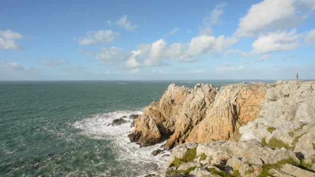Rugged Cliff Faces in Finistere-Pen Hir point, Finistere