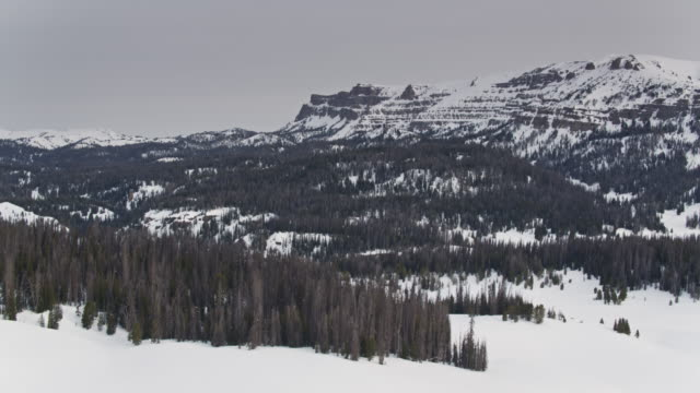 rugged mountain scenery in wyoming - drone shot - grand teton stock videos & royalty-free footage