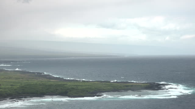 Rugged south coast of the big island of Hawaii and ancient lava coastline