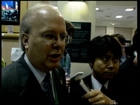 stockvideo's en b-roll-footage met rugman along corridor with karl rove asking how bush had done and rove answers sot absolutely terrific karl rove interview sot president has outlined... - geallieerde mogendheden