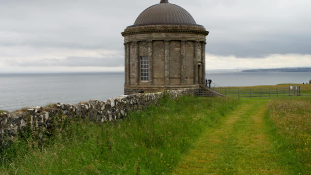 ruin of mussenden temple on a cliff edge
