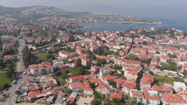 ruined and abandoned windmills of foca, izmir, turkey - izmir stock videos & royalty-free footage