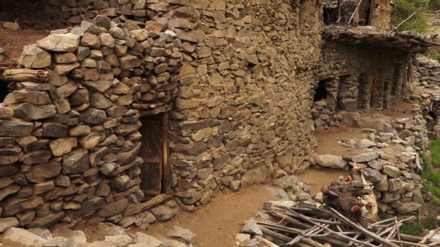 ruined buildings of hundarman village, kargil - ghost stock videos & royalty-free footage