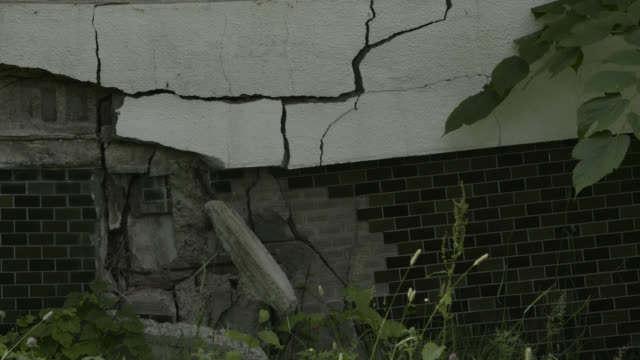 ruined hospital building, japan. - cracked stock videos & royalty-free footage