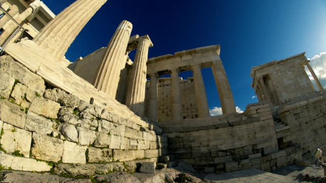ruins at the acropolis - the erechtheion stock videos & royalty-free footage