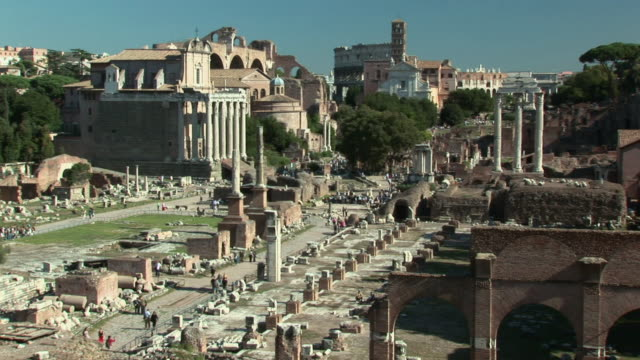 ha ruins at the roman forum / rome, italy - letterbox format stock videos and b-roll footage