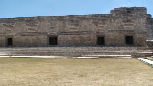 ruins at uxmal - latin american civilizations stock videos and b-roll footage