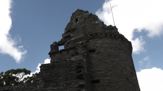 ruins bishop's palace kirkwall orkney - circa 12th century stock videos & royalty-free footage