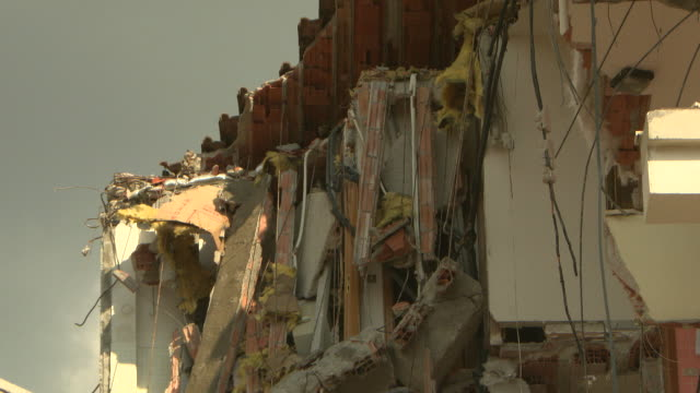 ruins, houses in aquila earthquake 2009 - earthquake stock videos and b-roll footage