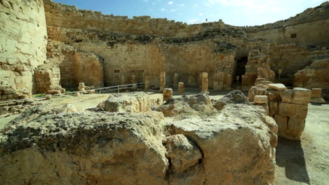 ruins in the old fortress - jerusalem stock videos and b-roll footage