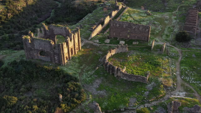 ruins of aspendos - stone house stock videos & royalty-free footage