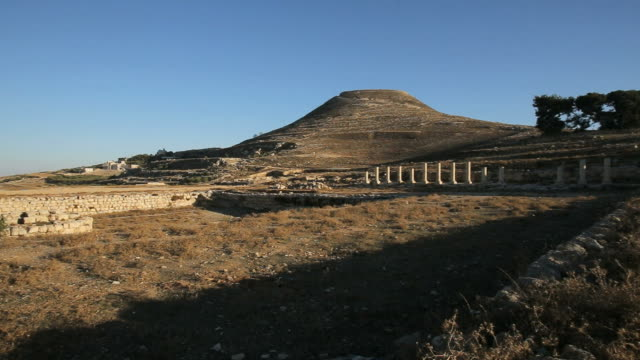 ruins of herodium (herodion) archeological site in judean desert, israel/ steady cam shot - fortress stock videos and b-roll footage