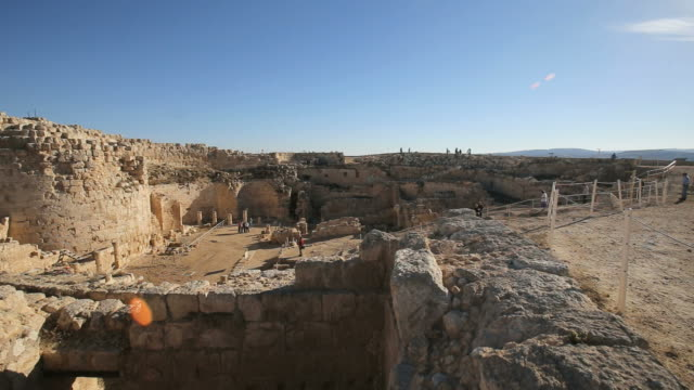 ruins of herodium (herodion) in judean desert/ steady cam shot - religious illustration stock videos and b-roll footage