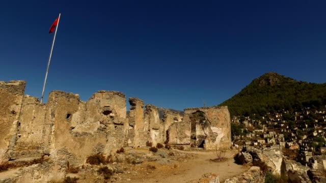 vidéos et rushes de ruins of kayakoy - turquie