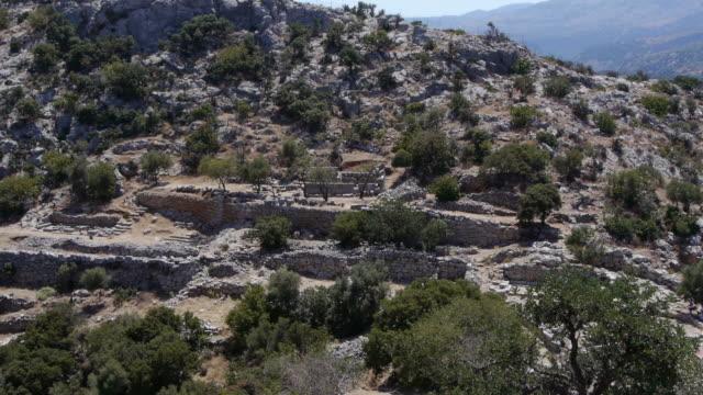 ruins of kritsa on crete, greece. - spoonfilm stock-videos und b-roll-filmmaterial