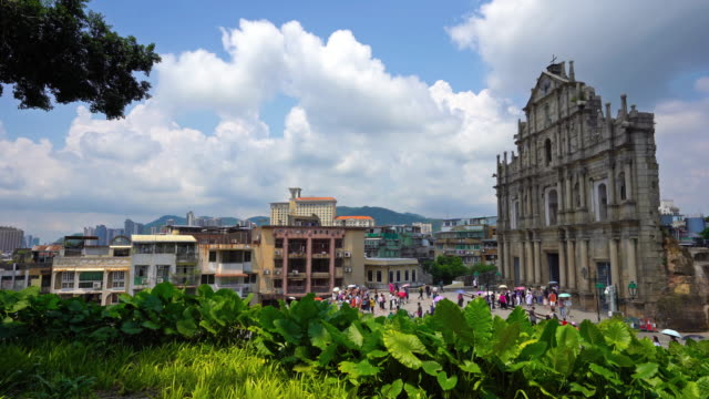 Ruinen von St. Paul Kirche Wahrzeichen in Macau Stadt
