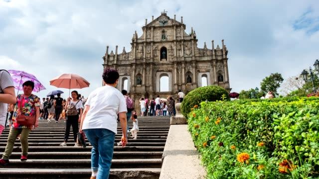 Ruinen von St.paul es Altstadt des UNESCO-Welterbes Senatsplatz in Macau