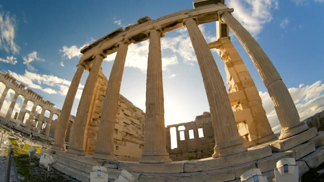 ruins of the acropolis - the erechtheion stock videos & royalty-free footage