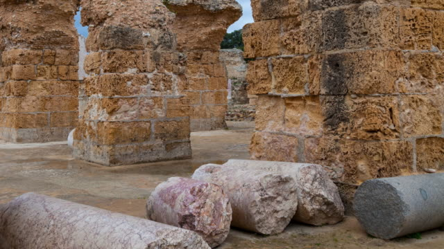 ruins of the baths of antoninus - karthago stock-videos und b-roll-filmmaterial