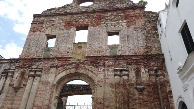 イエズス会修道院の遺跡、カスコビエホ、パナマ市 - パナマ点の映像素材/bロール