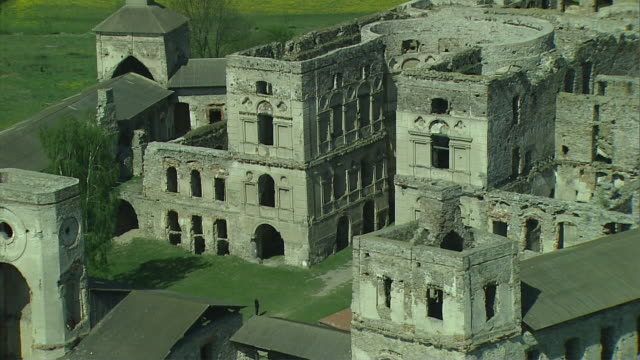 ruins of the krzyztopor castle in the village of ujazd (the swietokrzyskie mountains). - poland stock videos and b-roll footage