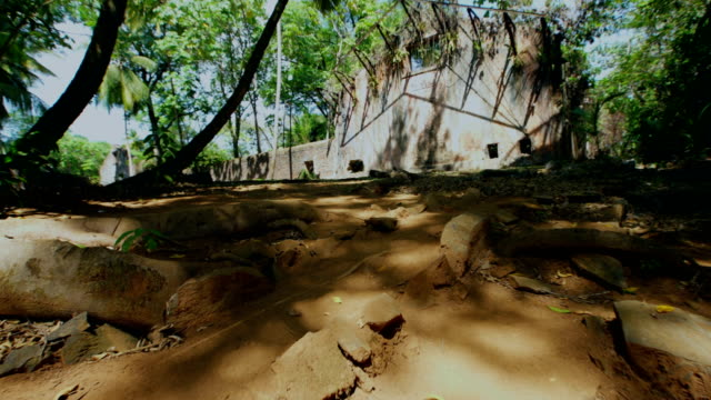 ruins of the penal colony of cayenne in the middle of rainorest. french guyana - french guiana stock videos & royalty-free footage