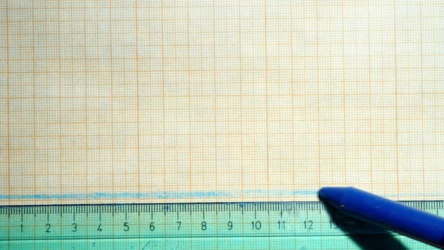 ruler and crayon on graph paper - graph paper stock videos & royalty-free footage