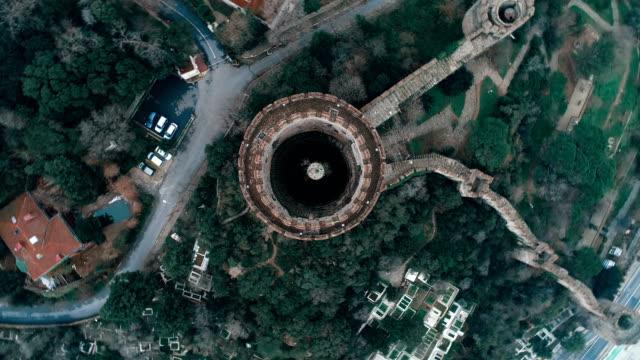vidéos et rushes de tour de forteresse de rumeli hisarı - istanbul vue aérienne - colonne architecturale
