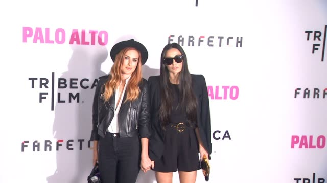Rumer Willis and Demi Moore at the 'Palo Alto' Los Angeles Premiere at Directors Guild Theatre on May 05 2014 in West Hollywood California