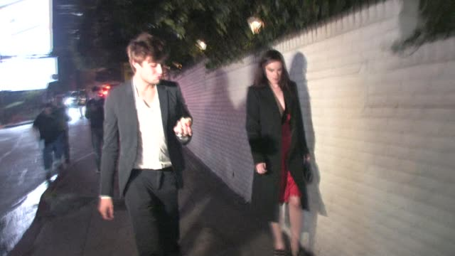 Rumer Willis and Douglas Booth outside Chateau Marmont in West Hollywood at the Celebrity Sightings in Los Angeles at Los Angeles CA