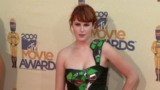 rumer willis at the 18th annual mtv movie awards at universal city ca. - universal city stock videos & royalty-free footage