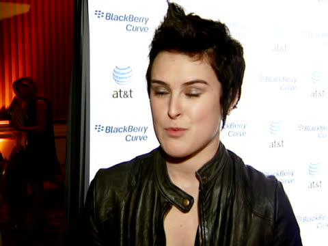 rumer willis at the blackberry curve from at&t u.s. launch party at beverly hills california. - curve stock videos & royalty-free footage