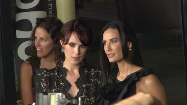 rumer willis , demi moore at the 'sorority row' premiere at hollywood ca. - demi moore stock videos & royalty-free footage