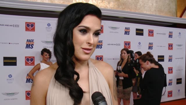 interview rumer willis on being a part of the night if she'll hit the dance floor how dancing with the stars has changed her life at the 22nd annual... - race to erase ms stock videos and b-roll footage
