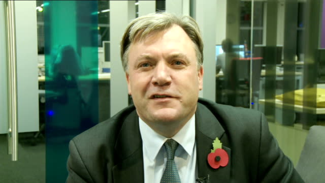 rumours of discontent over ed miliband's leadership of labour continue england london gir int ed balls mp 2way interview sot on george osborne and... - channel 4 news stock videos and b-roll footage