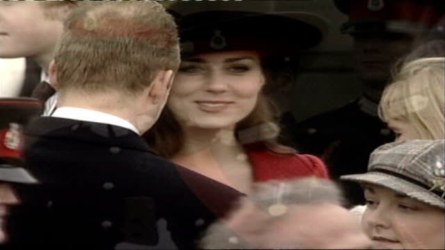 rumours that prince william and kate middleton are back together lib surrey camberley sandhurst royal military academy prince william at cadets'... - gossip stock videos & royalty-free footage