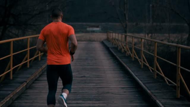 Run across the bridge
