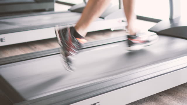 run fast on the treadmill - gym stock videos & royalty-free footage