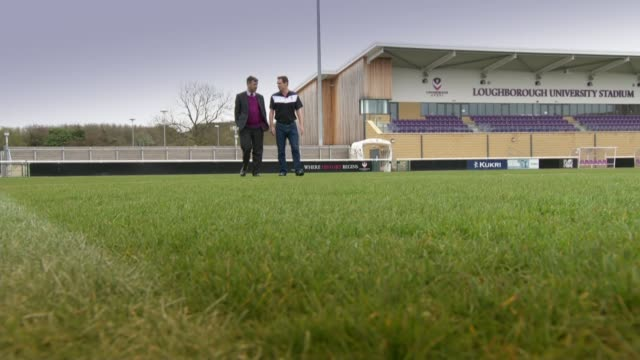 runaway premier league leaders leicester city have surprised everyone leicestershire loughborough loughborough football stadium dr david fletcher set... - sports league stock videos & royalty-free footage