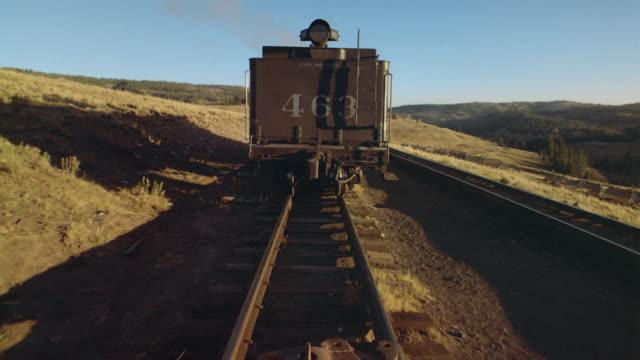 train pov runaway railroad car speeding away down track/ colorado - runaway stock videos and b-roll footage