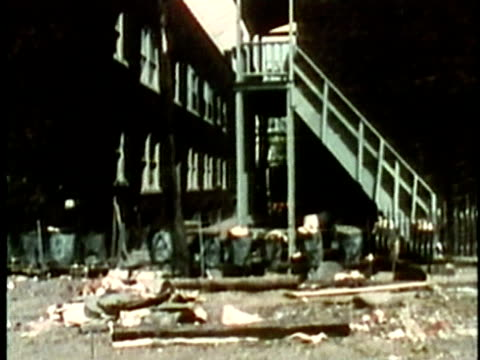 rundown abandoned slum area of southern city/ usa/ audio - run down stock videos & royalty-free footage