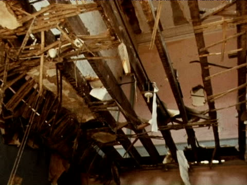 rundown houses being demolished 1971 - demolished stock videos & royalty-free footage